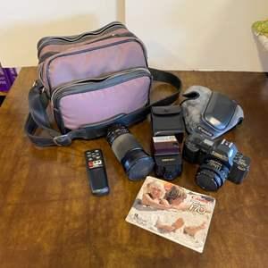 Lot # 152 - Canon T 70 camera with accessories