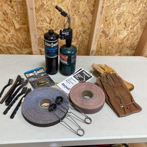 Lot # 199 - Soldering torch and amenities