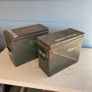 """Lot # 224 - Two more 18"""" ammo cans"""