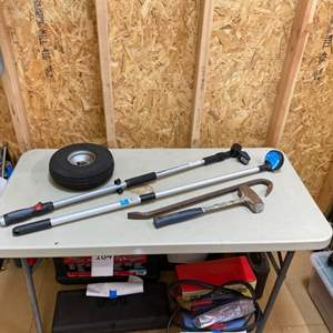 Lot # 231 - Miscellaneous tools with directional pressure washing wand and magnetic club