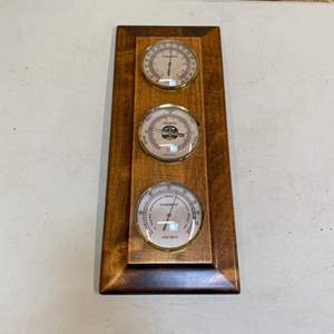 Lot # 233 - Verichron thermometer, hydrometer and barometer combo made in France