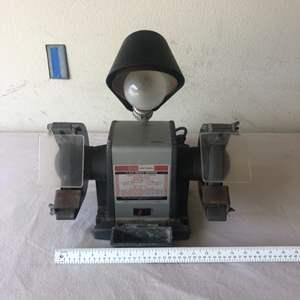 Lot # 4 - Craftsman 1/2 hp Bench grinder w/ light