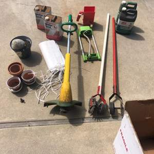 Lot # 17 - Electric Weedwhacker and other gardening items