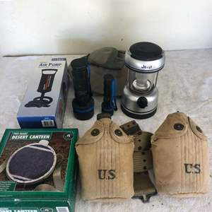 Lot # 26 - US Army canteens/camping equipment