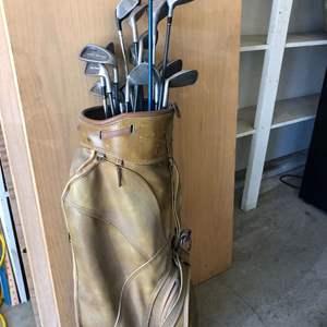 Lot # 38 - Tour Classic Iron Set Vintage Clubs and Bag