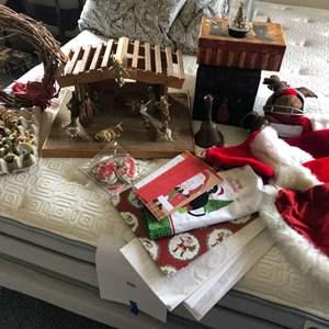 Lot # 87 - Handmade Nativity, Christmas Decor and More