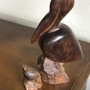 Lot # 92 - Ironwood Pelican and Quail