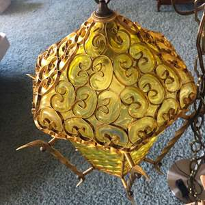 Lot # 115 - Beautiful unique light fixture and standing lamp