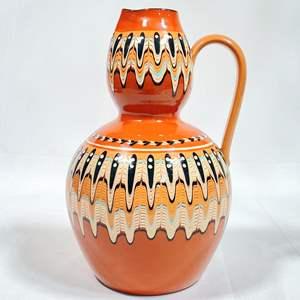 Lot # 1 - Bulgarian Pottery Large Pitcher