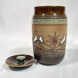 Lot # 4 - Ted Juve Olaf Pottery Large Lidded Jar