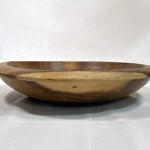 Lot # 9 - Large turned wood bowl