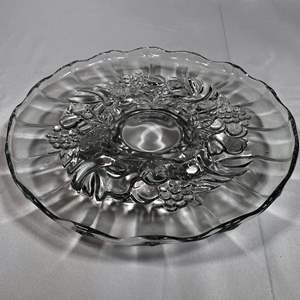 Lot # 19 - Large Footed Glass Serving Platter