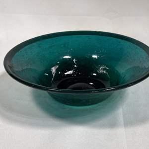 Lot # 24 - Blown Glass Decorative Bowl