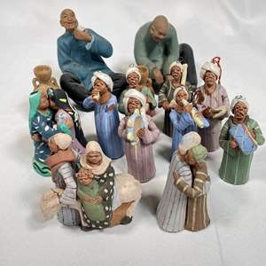 Lot # 30 - Collectible Egyptian Real Life Handmade Clay Figurines