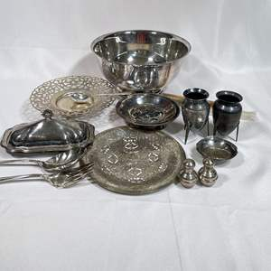 Lot # 32 - Silver Plate Items