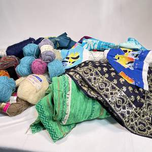 Lot # 45 - Gorgeous Assortment of Fabrics and Mohair Yarns