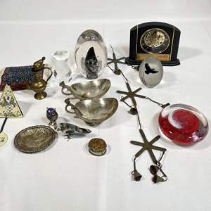 Lot # 51 - Assortment of Decor, Glass Art, Chimes and More