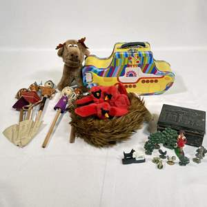 Lot # 52 - Fun and Collectible Toys, Barclay Figurines, Plush, Beatles Yellow Submarine