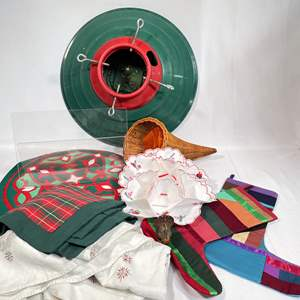 Lot # 54 - Christmas Items and Xmas Tree Stand