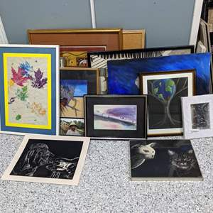 Lot # 133 - Bunch of Art and Frames