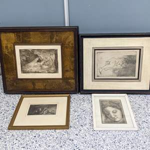 Lot # 136 - Gorgeous Drawings and (1) Signed Artist Proof