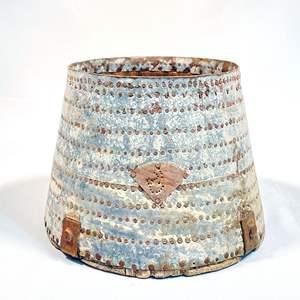 Lot # 140 - Vintage Metal and Wood Bushel Basket