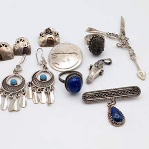 Lot # 90 - Assorted Silver Jewelry (72.56g)