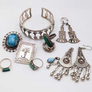 Lot # 91 - Assorted Silver and Stone Jewelry (98.61g)
