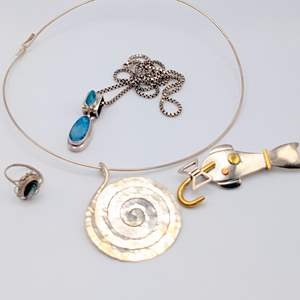 Lot # 94 - Assorted Sterling Jewelry (46.00g)