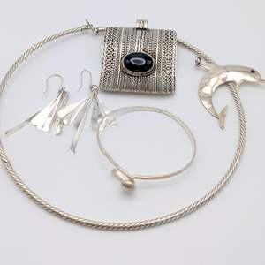 Lot # 96 - Assorted Silver Jewelry (74.21g)