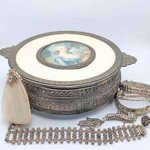 Lot # 97 - Vintage Artisan Jewelry and Box