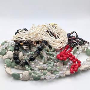 Lot # 101 - Vintage Beaded Necklaces and Belt