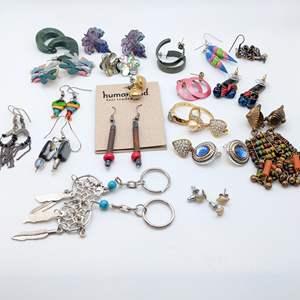 Lot # 107 - Earrings and Rings