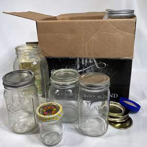 Lot # 35 - Large Collection of Canning Jars (Various Sizes)