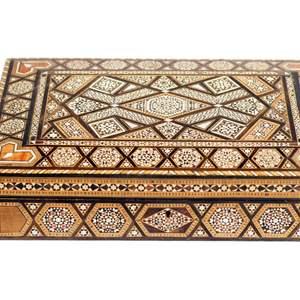 Lot # 58 - Ornate Inlaid Mosaic Jewelry Box