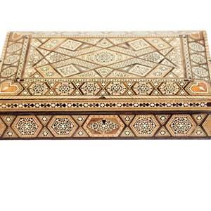 Lot # 59 -  Ornate Inlaid Mosaic Jewelry Box