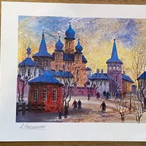 Lot # 16 - Anatole Krasnyansky Litho, signed in plate, 9x11