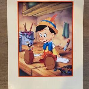Lot # 20 - 1993 Pinocchio litho