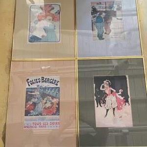 Lot # 21 - Set of four framed vintage poster art