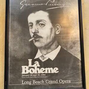 Lot # 28 - La Bohème poster from 1982 Long Beach opera