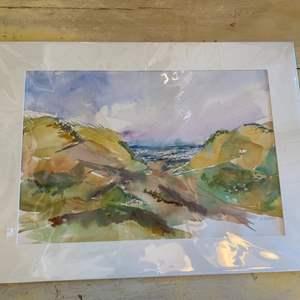 Lot # 32 - original watercolor ready for framing