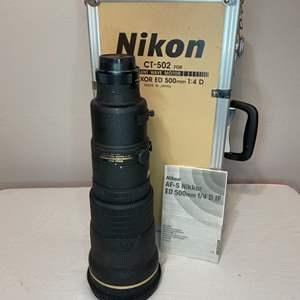 Lot # 83 - Nikon, AF-S Nikkor ED 500mm f/4 D IF
