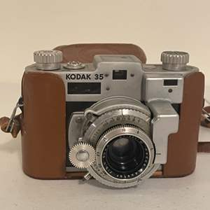Lot # 9 -  Vintage Kodak Camera with Leather Carrying Case