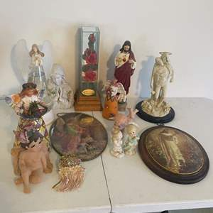 Lot # 11 - Ceramic Statues and Home Decor