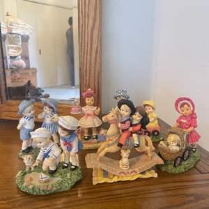 Lot # 14 - Patsy Effanbee Doll Co Heart to Heart Figurines