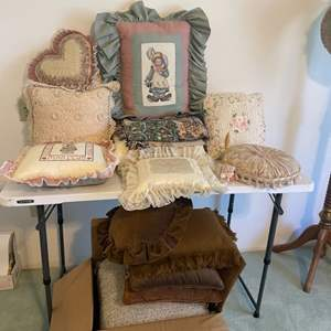 Lot # 16 - Embroidered Pillows/ Assorted Throw Pillows