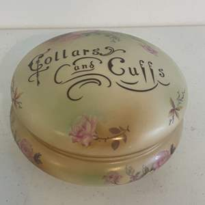 Lot # 25 - Porcelain Vintage Collars and Cuffs Dresser Box, Frances Morley and Company