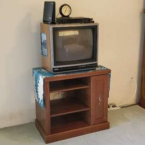 Lot # 32 - Vintage Television with Stand