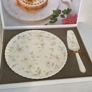 Lot # 42 - Mikasa Bone China Cake Plate and Server