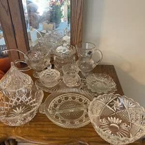 Lot # 43 - Vintage Assorted Glass
